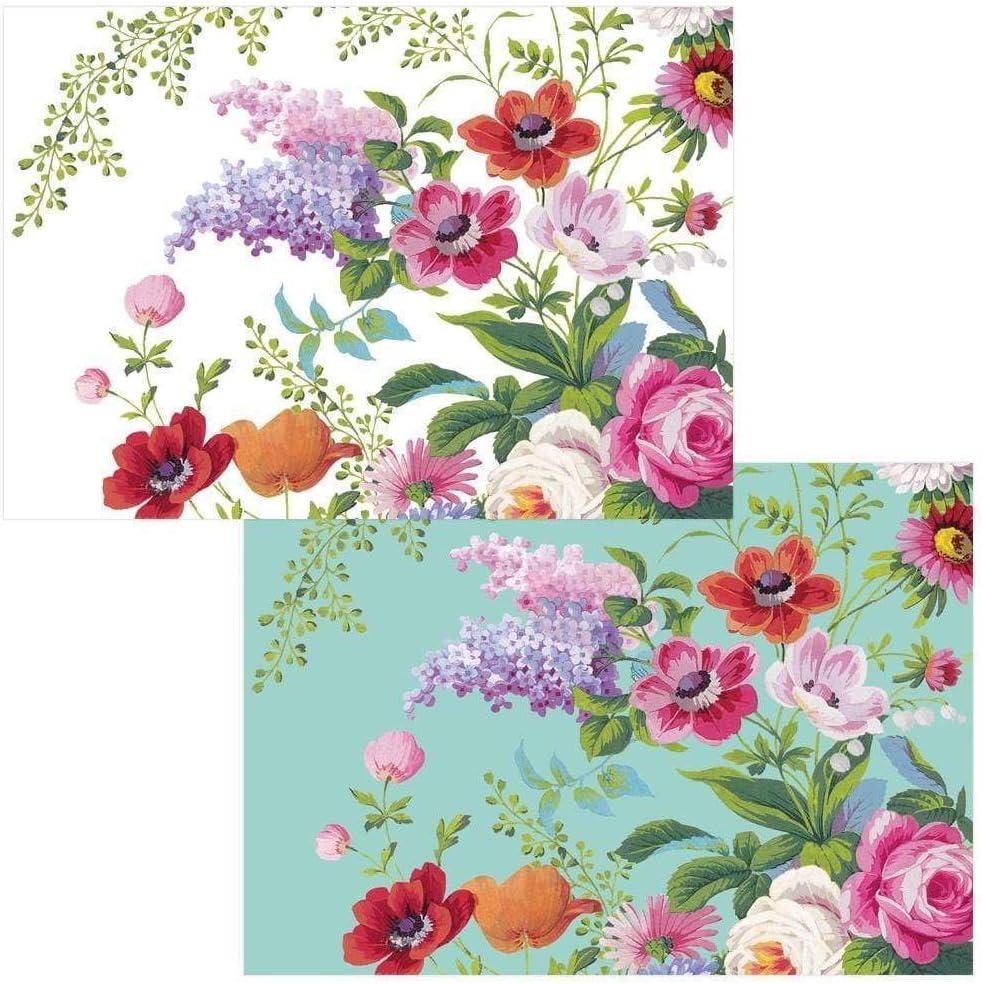 Caspari Edwardian Garden Blank Boxed Note Cards, 16 Cards & Envelopes
