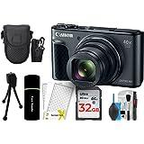 Canon PowerShot SX730 Digital Camera w/40x Optical Zoom & 3 Inch Tilt LCD - Wi-Fi, NFC, Bluetooth Enabled (Black) + 32GB Card + Reader + Case + DigitalAndMore Accessory Bundle