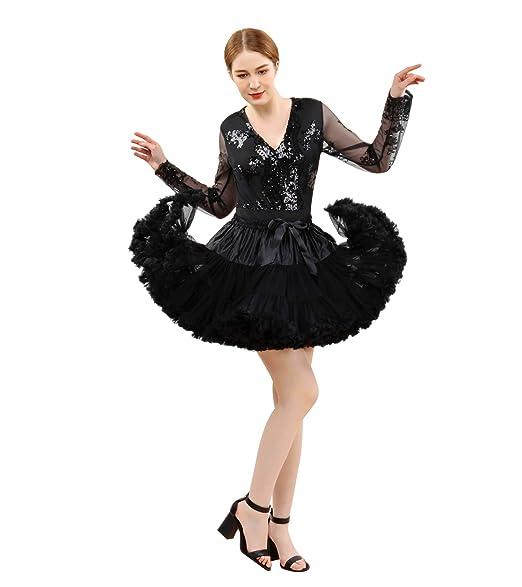 FOLOBE Falda de Tul con Volantes para Mujer Tutu en Adulto Falda ...