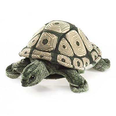 Folkmanis Tortoise Hand Puppet: Toys & Games