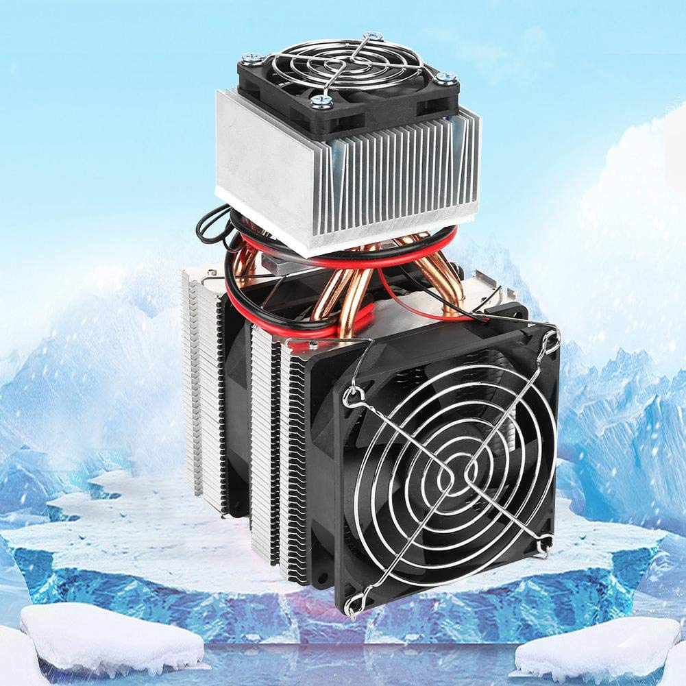 Semiconductor Refrigeration Cooling Device Thermoelectric Cooler DIY Mini Fridge Semiconductor Cooler Air Conditioner Kit Mini Electronic Cooler