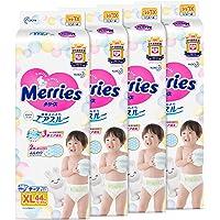 Merries TAPE Diapers, XL, 44ct, (Pack of 4)