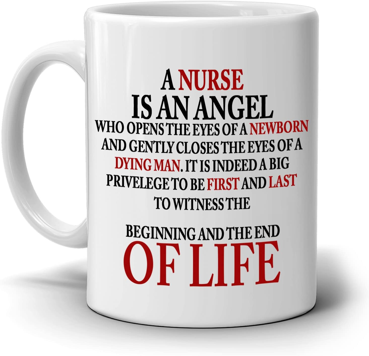 Amazon Com Inspirational Nurse Quotes Gifts Appreciation Coffee Mug Printed On Both Sides Kitchen Dining