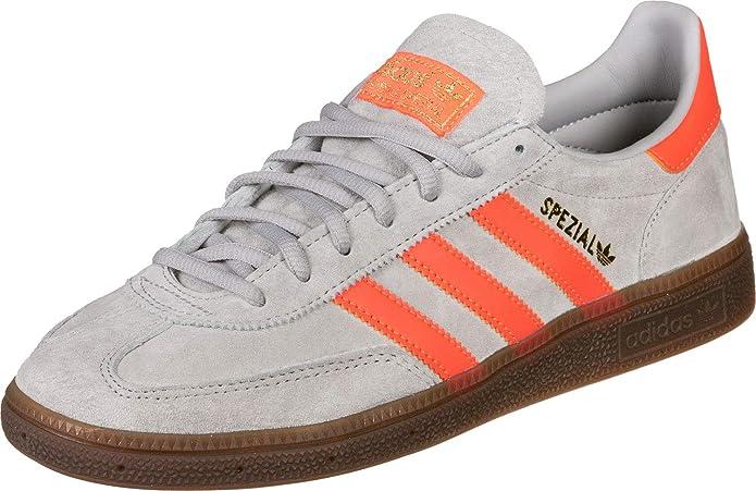 adidas Spezial Sneakers Herren Grau mit Orangen Streifen