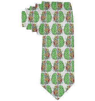 Corbata clásica Acuarela Verde Cerebros Niño Casual Escuela ...