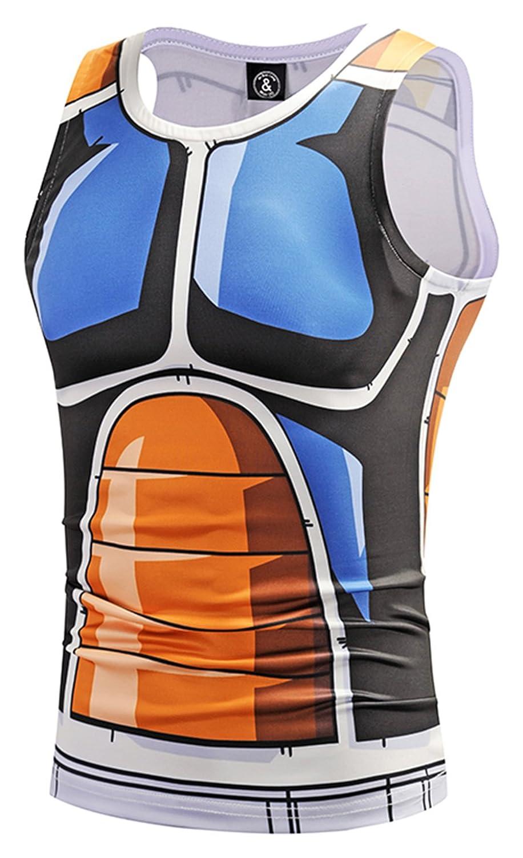 Pizoff(ピゾフ) メンズ タンクトップ 3Dプリント おもしろ 着圧 スポーツ 吸汗速乾 コンプレッションウェア B07BDKKR2Z  Y1783-33 XX-Large