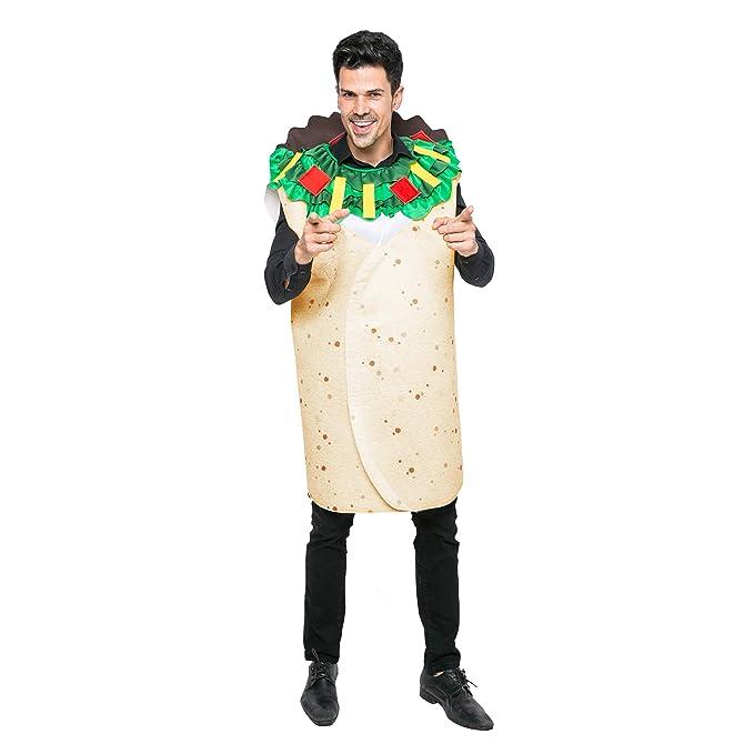 Costume Halloween Man.Men Burrito Costume Adult Deluxe Set Halloween Dress Up Party