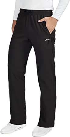 Clothin Men's Lightweight Quick-Dry Elastic-Waist Drawstring Pants with Zipper Pockets for Hiking Casual Travel