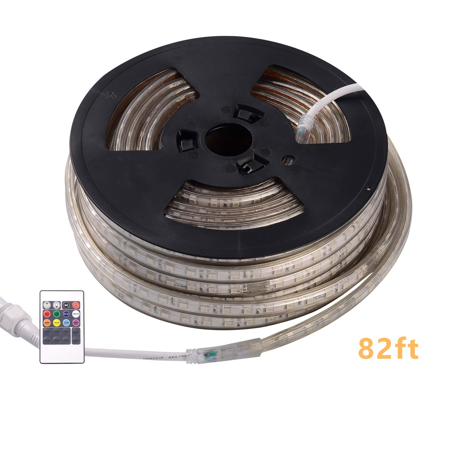 Shine Decor 110V RGB Color Changable LED Strip Lights | Super Bright Plug & Play Light Strip for Indoor Outdoor Lighting | Safe Flexible Glowing Lights for Party Decorations & Ambient Spaces | 82ft