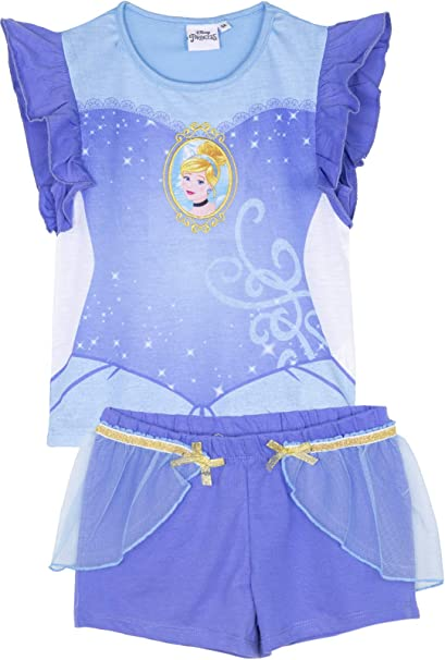 Disney Official Princess Frozen Characters Themed Girls Long or Short Sleeve Nightdress Nightie Pyjamas Sets Pajamas pjs 2-6 Years