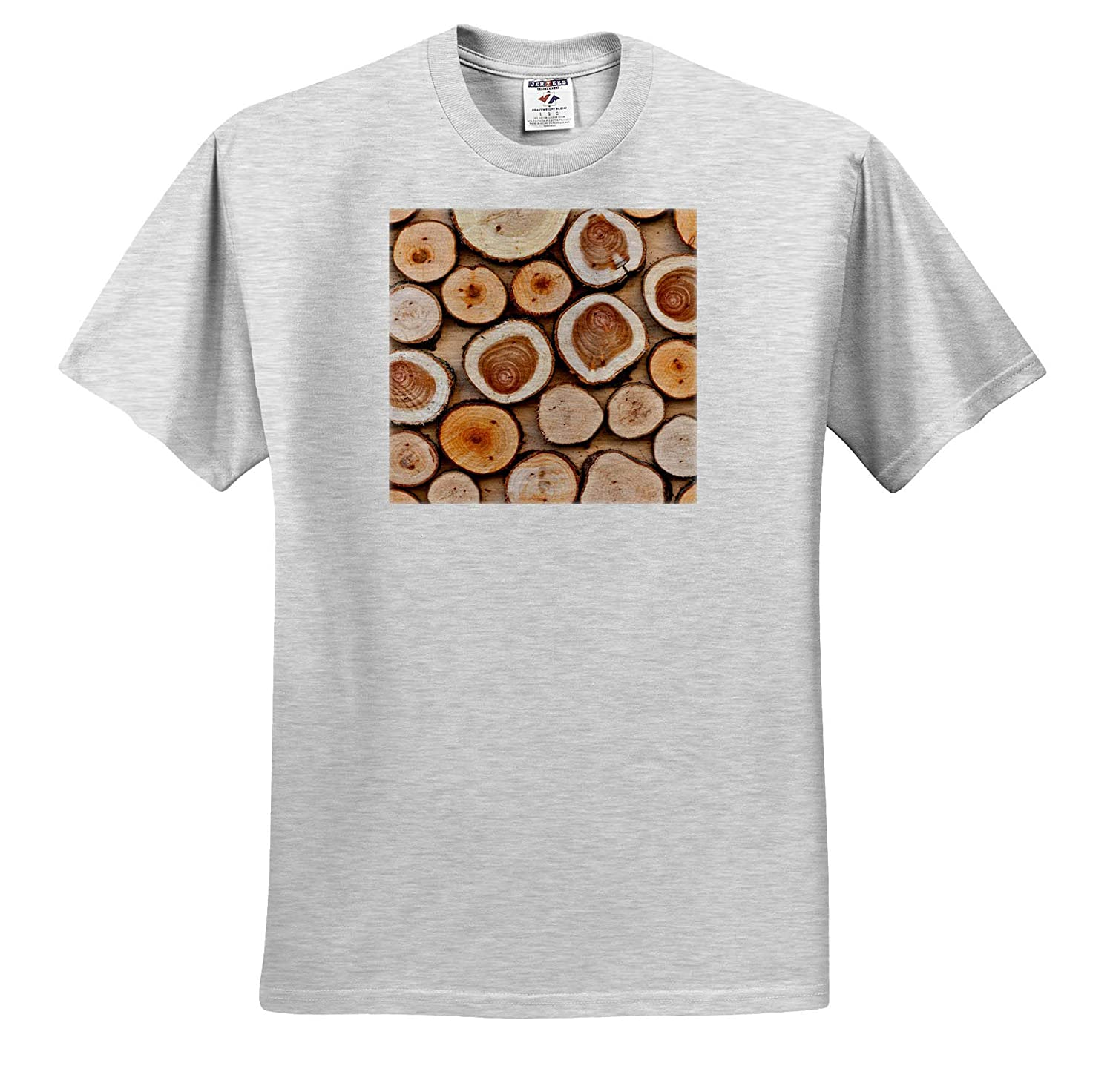 Image of Wooden disks on Plywood T-Shirts Beautiful Natural Timber Pattern Texture Wood 3dRose Alexis Photography