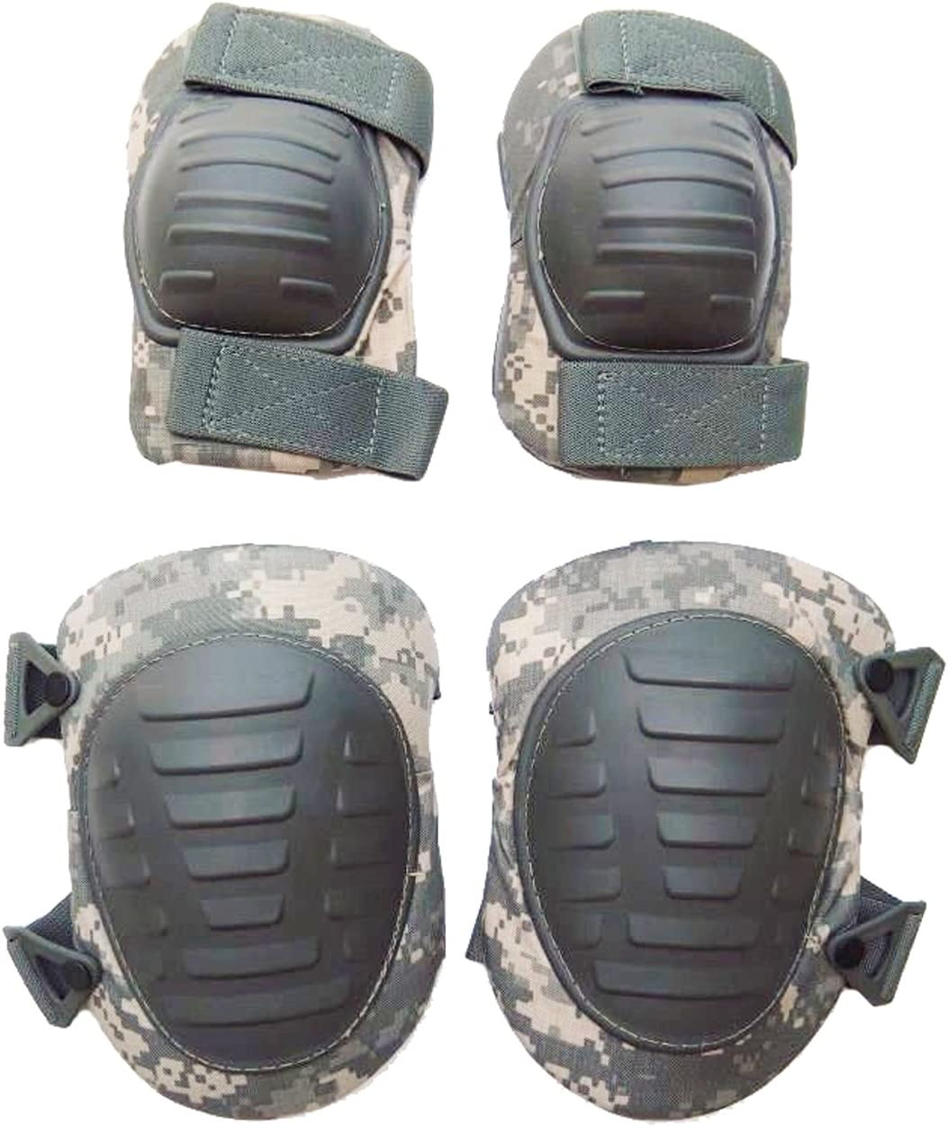 Image of knee pads and elbow pads by Military Outdoor Clothing, in camouflage color.