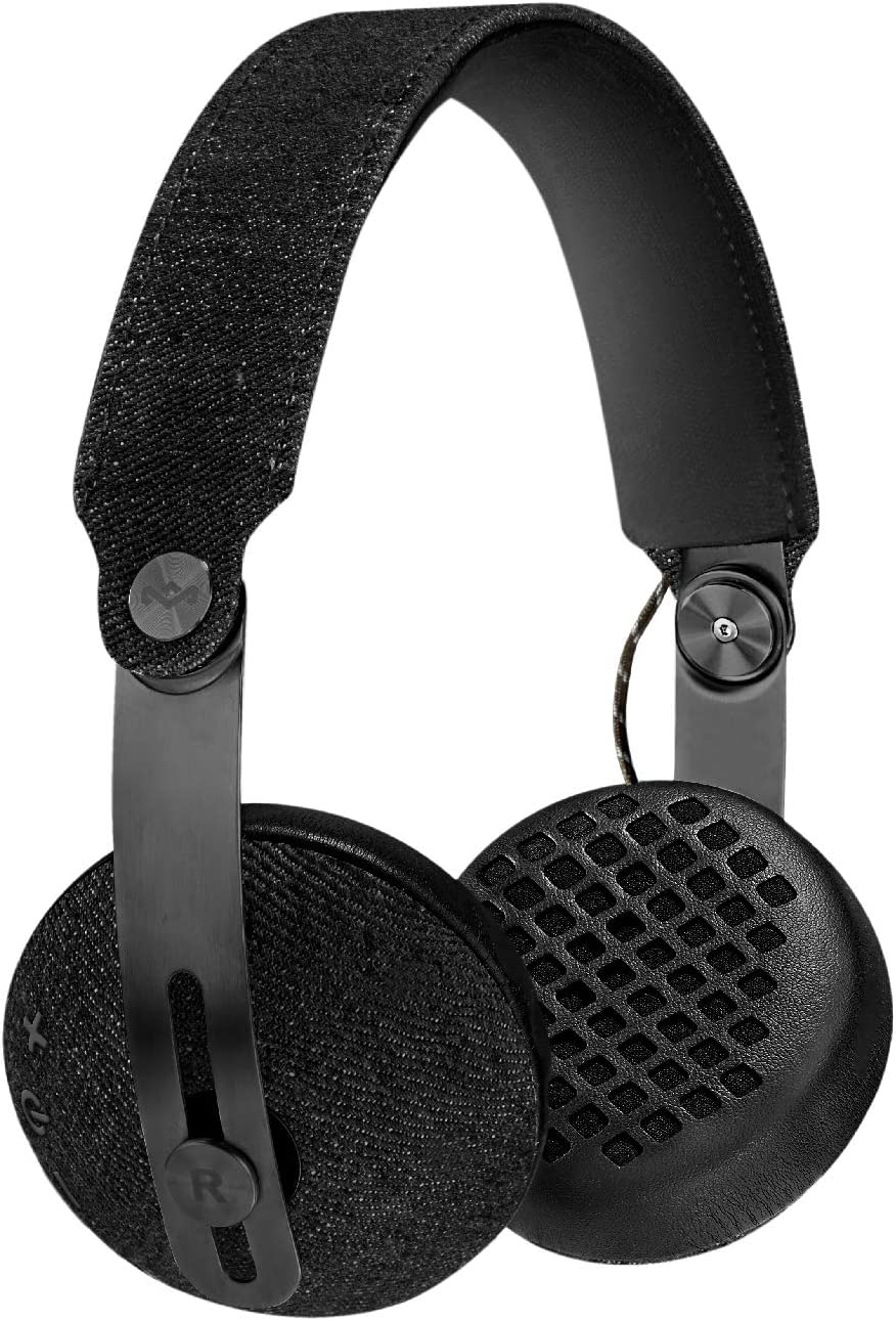 House of Marley EM-JH111-BK Rise BT Wireless On-Ear Headphones, Black