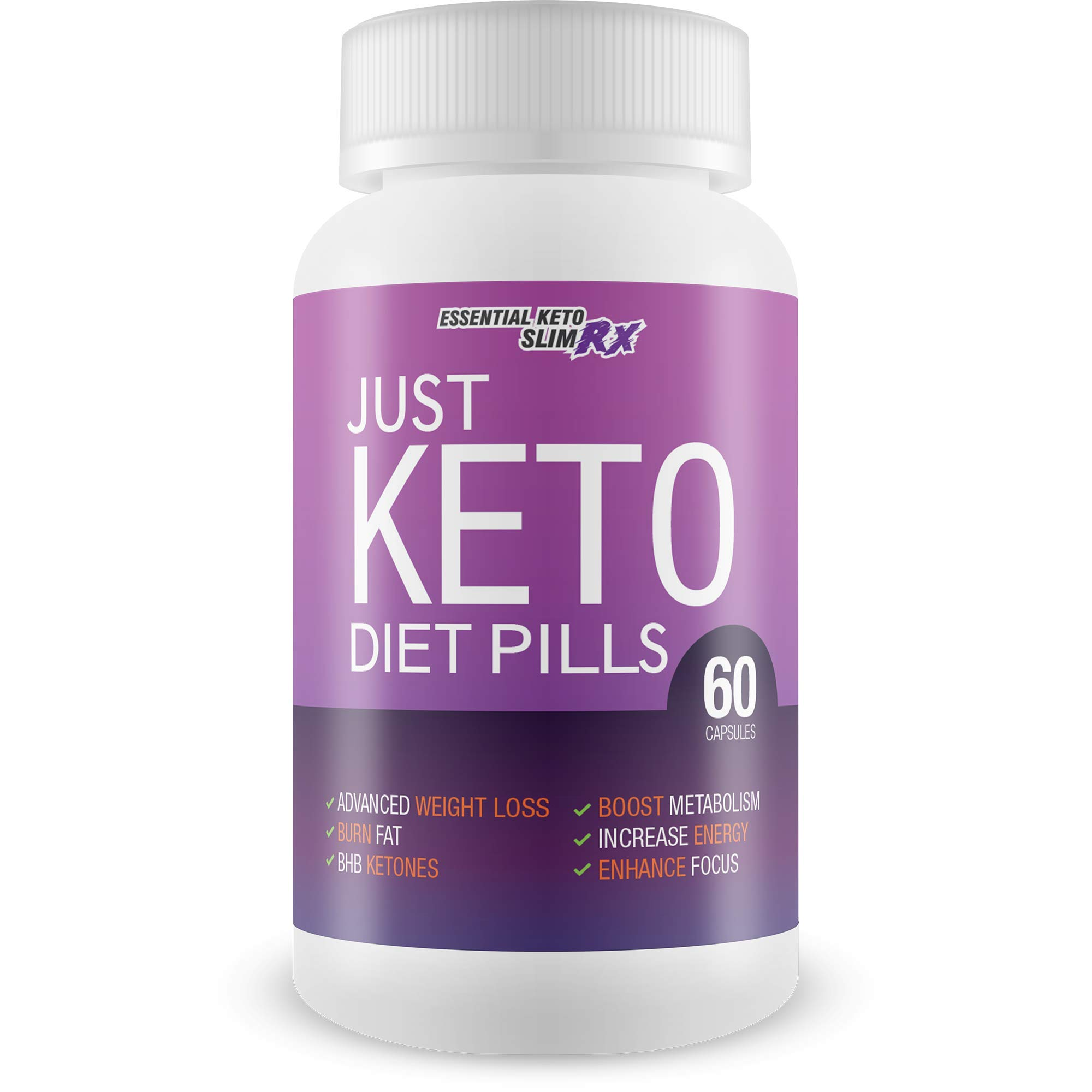 Just Keto Diet Pills - Weight Loss Pills - Burn More Fat - Lose More Weight - Keto Boost Keto Fat Burning - Burn Fat Faster Bhb Supported Ketosis - Weight Loss for Women by Essential Keto Slim RX by Essential Keto Slim RX