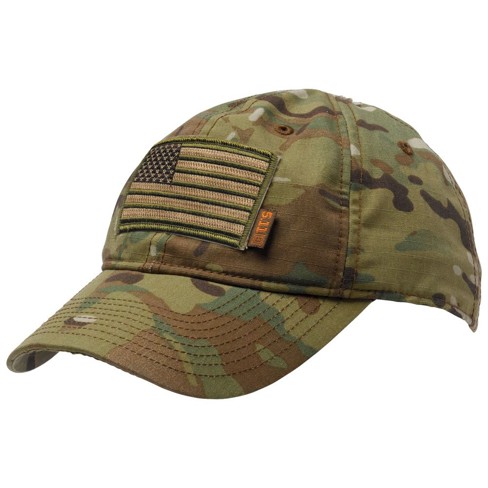 Gadsden and Culpeper 5.11 Flag Bearer Cap Bundle Multicam (USA Patch + Hat) by Gadsden and Culpeper