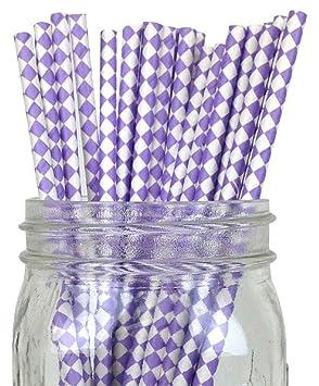 Forro/blanco ablashi juego de 100 Count Tamaño 7 3/4 (diseño de rayas papel pajita de incienso palos para Cake Pop moldes ...
