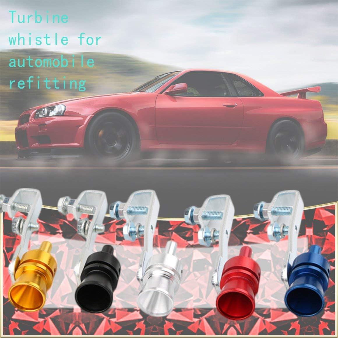 Paperllong/® Universal Turbo Sound Whistle Auspuffrohr Endrohr Gef/älschtes Abblaseventil Simulator Alu num Autozubeh/ör