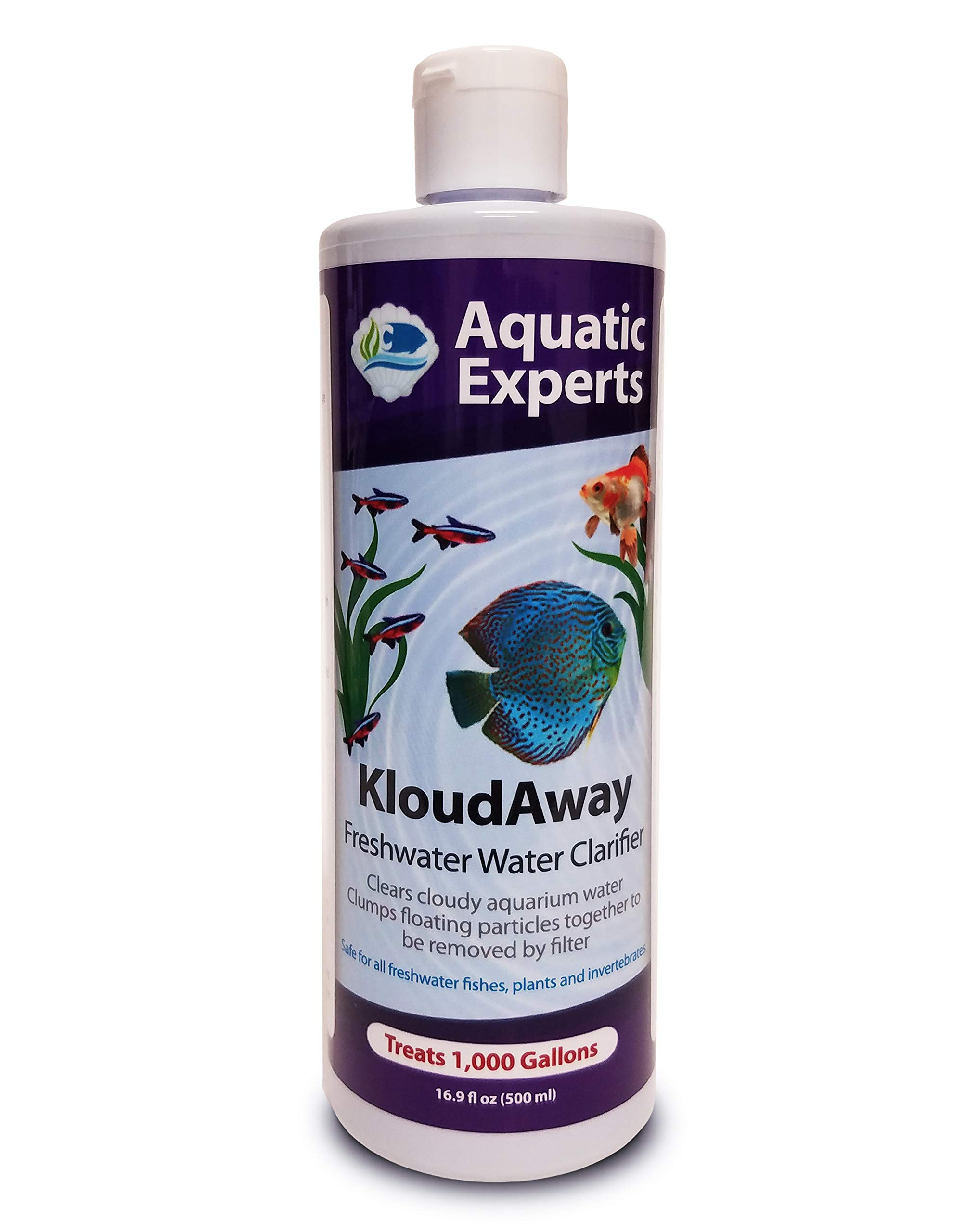 KloudAway Freshwater Aquarium Water Clarifier - Clears Cloudy Water, Water Clarifier for Fish Tank, Made in USA (1 Pack) by Aquatic Experts