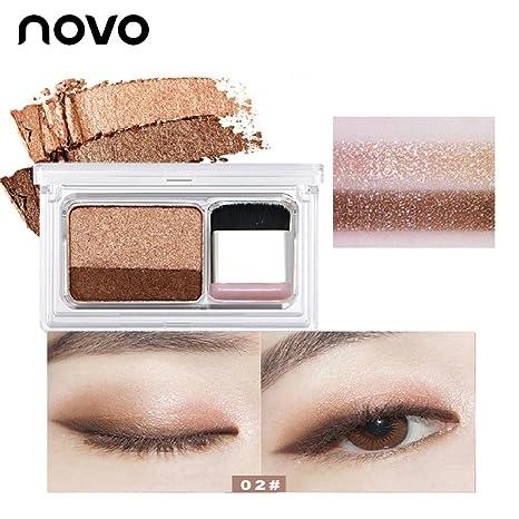 Novo Paletas de Sombras de Ojos Doble Colores Mate y ...