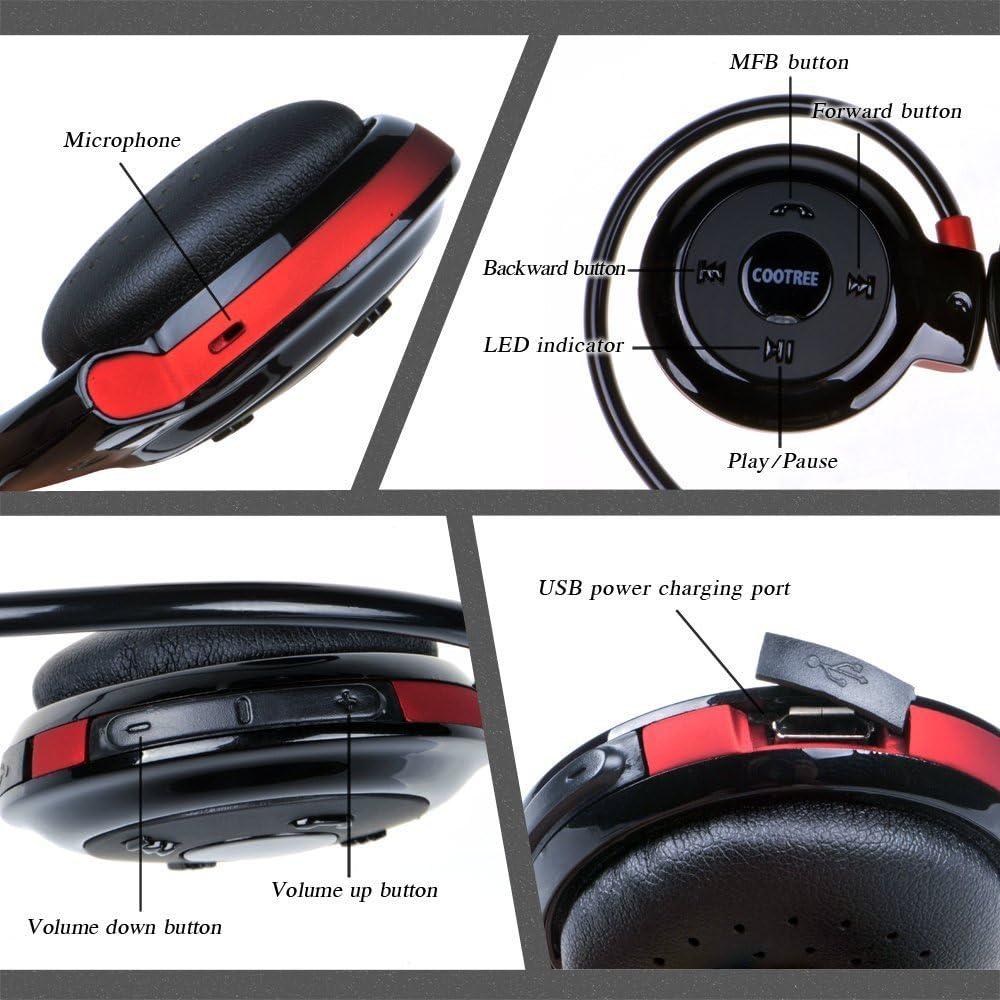 Cootree® Jogger sports Sweat Proof Wireless Bluetooth 4.0 Headset ...