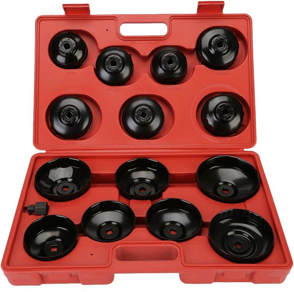 OCGIG /Ölfilterschl/üssel Universal Set /Ölfilterkappen Satz KFZ /Ölwechselwerkzeug Druckguss 15Pcs