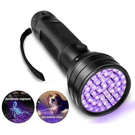 UV Ultra Violet 51 LED Flashlight Blacklight Light 395 nM Inspection Lamp Torch Sporting Goods Flashlights
