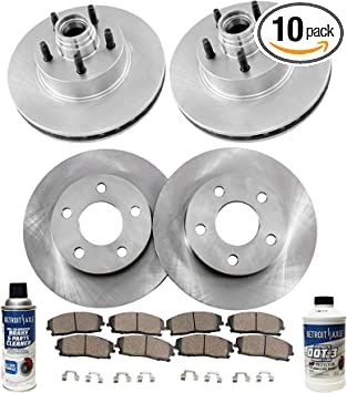 Ceramic Pads 1995-2001 Ford Explorer Mountaineer 4WD Front Rear Brake Rotors