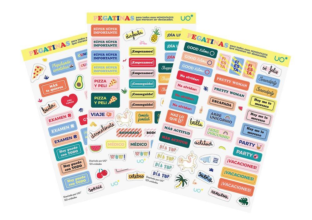 UO KTAG18ET2 - Kit agenda 2018 con diseño Tropical, stickers ...