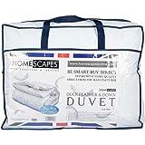 Homescapes warme Premium Winter Bettdecke, 260 cm x 220 cm, Steppdecke Wärmeklasse 5 - Entenfedern und Daunen