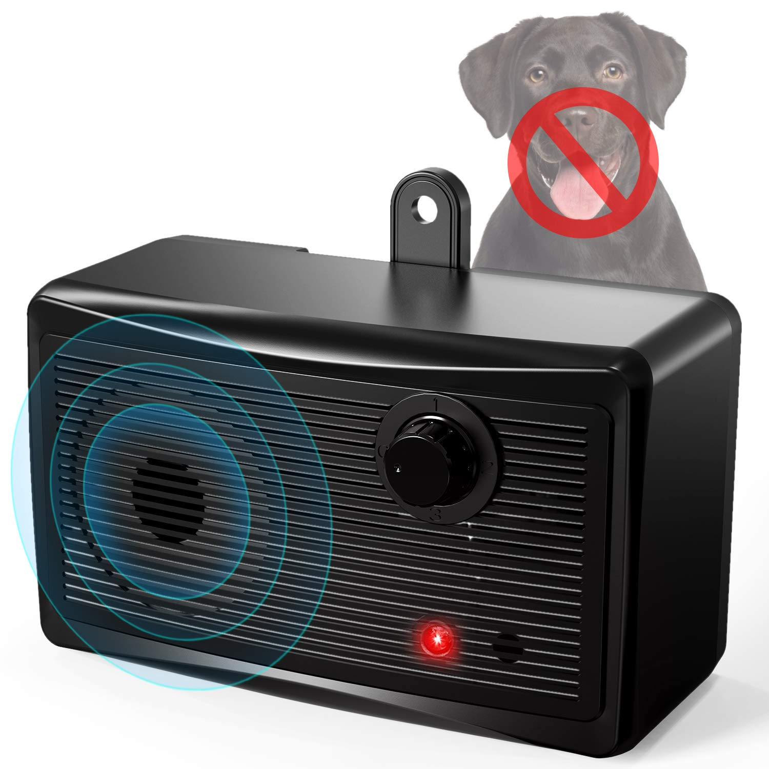 Anti Barking Control Device, Ultrasonic Dog Bark Deterrent, Mini Sonic Anti-bark Repellent 50 FT Range, Sonic Bark Deterrents Silencer Stop Barking Bark Stop Repeller (Battery not Included) by uniwood