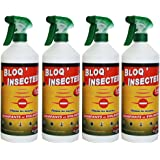 Bloq Insectes lot de 4x1L avec 4 bouchons + 4 Pulvérisateurs