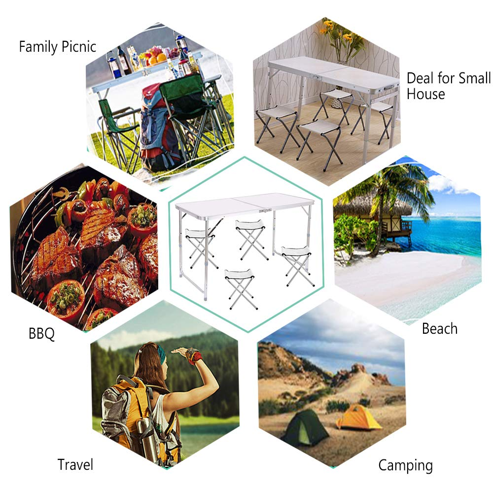 Jason - Mesa de Camping Plegable (Aluminio, Ligera, Extra ...