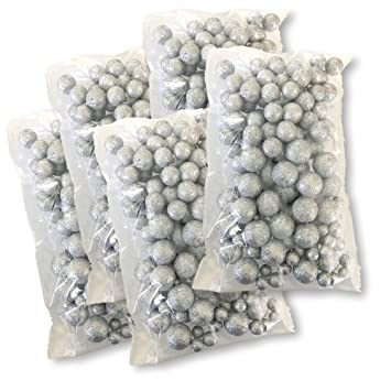 Amazon Silver Iridescent Foam Balls Large Set Of Glittered Best Silver Balls Decor
