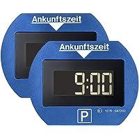 Park Lite Elektronische parkeerschijf, 2 stuks, blauw, met officiële toelating, 2 stuks