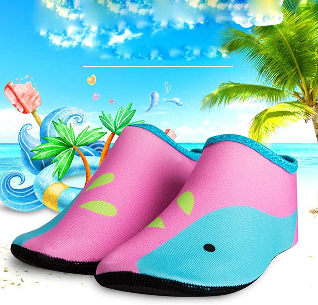 Janly/® Children Swimming Fins Diving Socks Quick-Drying Skin Shoes Aqua Shoes Beach Water Sport Shoes Flat Seaside Shoes
