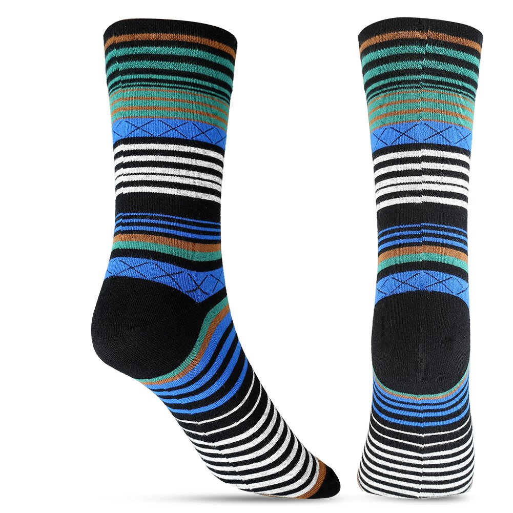 Tselected Women's Classic Dress Socks Colorful Warm Funny Casual Crew Vintage Style US Size 6-11 5 Pack by Tselected (Image #4)