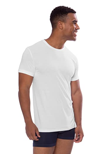 Crew Neck Undershirt for Men - Luxury Shirt in Bamboo Viscose by Texere