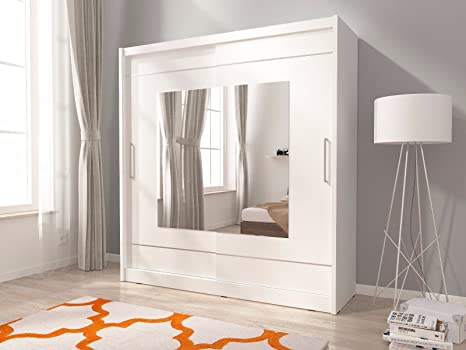 Camera Da Letto Legno Chiaro : Maya 9 centered specchio 2 ante armadio per camera da letto bianco