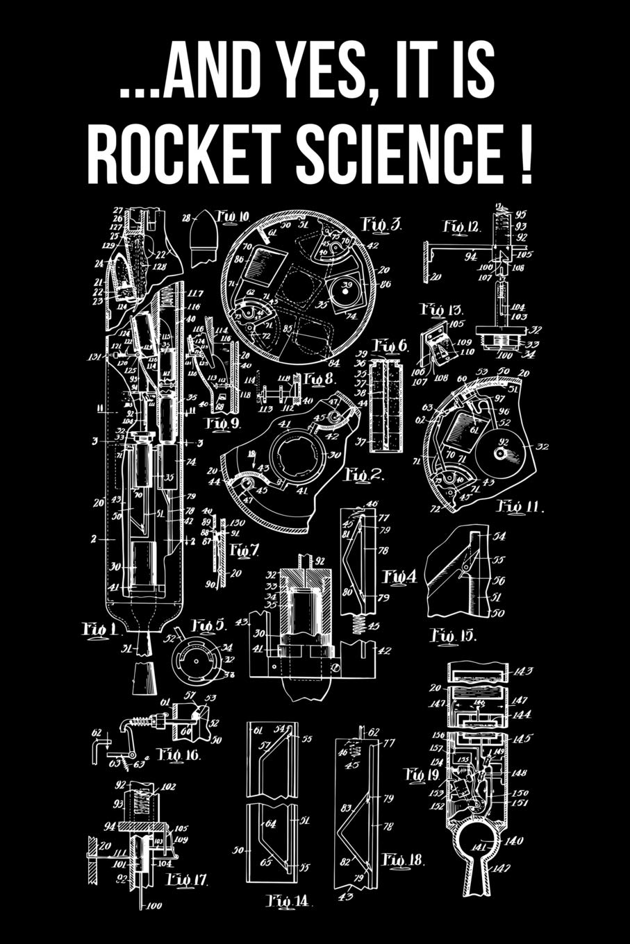 And Yes It Is Rocket Science!: Unlined Notebook 150 Blank ...