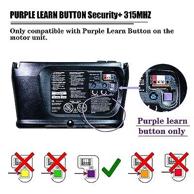 2 For Sears Craftsman 139.53753 Garage Door Remote 315mhz Purple Mini Keychain
