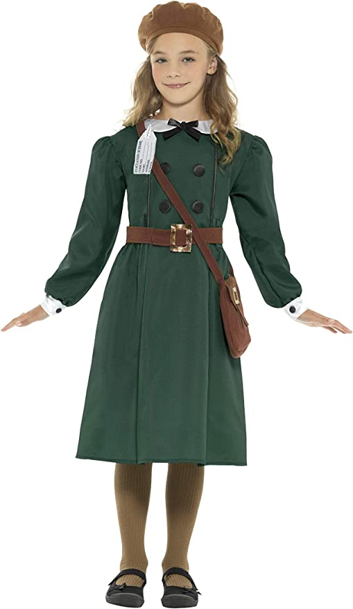 1940s Children's Clothing: Girls, Boys, Baby, Toddler Smiffys WW2 Evacuee Girl Costume £12.48 AT vintagedancer.com