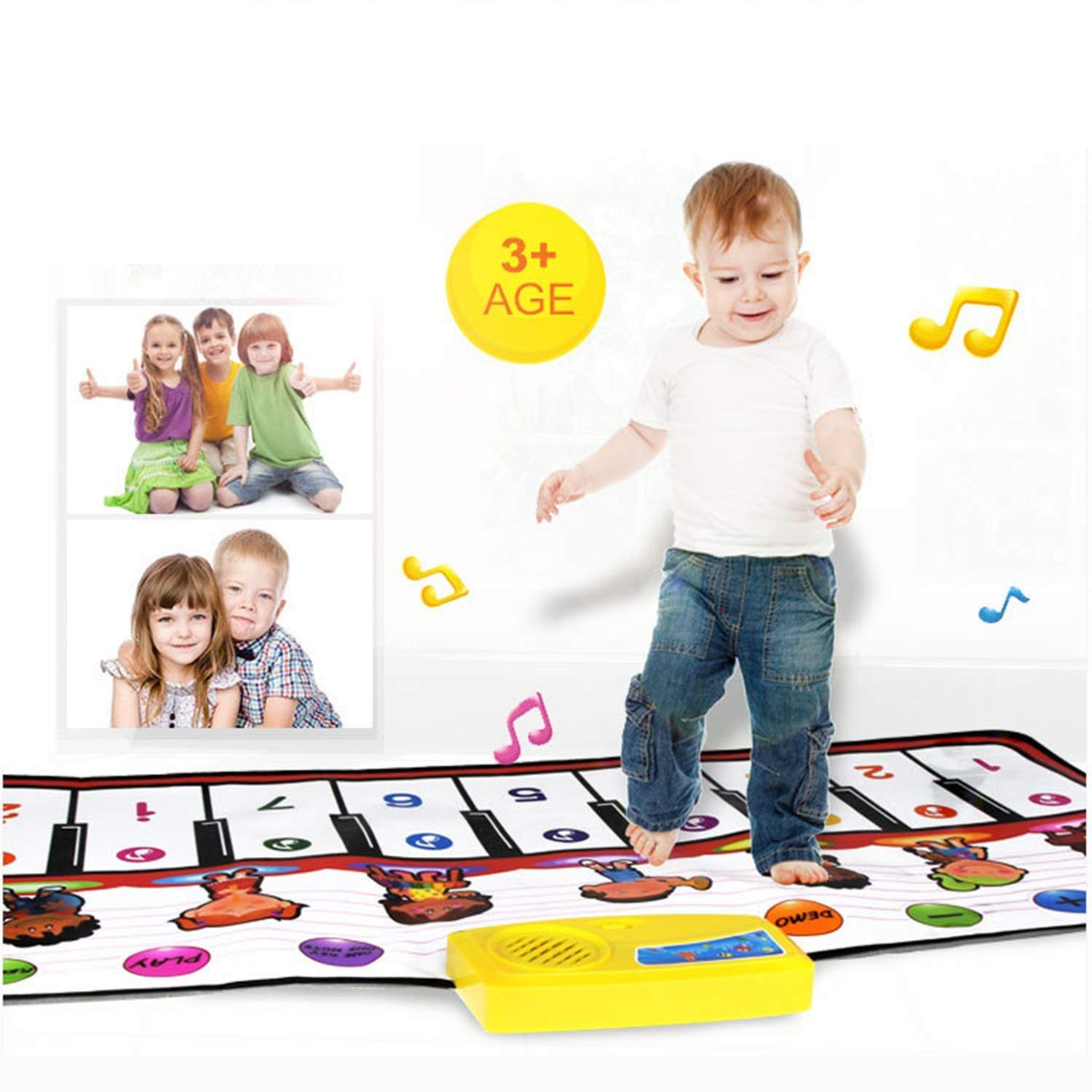 YFQ Crawling Mat Electronic Piano Multi-Function Children's Music Crawling Blanket Game Pad Early Education Toy Mat Environmental Protection Educational Toys by YFQ (Image #2)