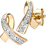 Naava Diamond Kiss 9 ct Yellow Gold Earrings