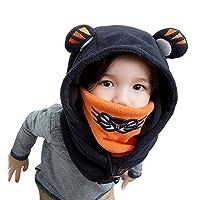Winter Kids Child Cartoon Winter Thick Warm Animal Hooded Face Ski Hats