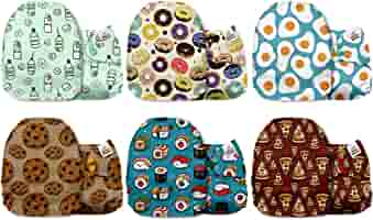 6 Pack Cloth Nappies Without Inserts Snow World Mama Koala One Size Baby Washable Reusable Pocket Cloth Diapers