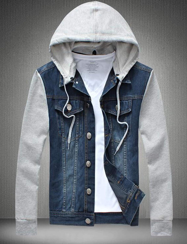 97a7599d2b12 Mens fleece hoodies cowboy tracksuits denim jacket men jeans jpg 1149x1500 Men  denim jacket hoodie sweatshirt