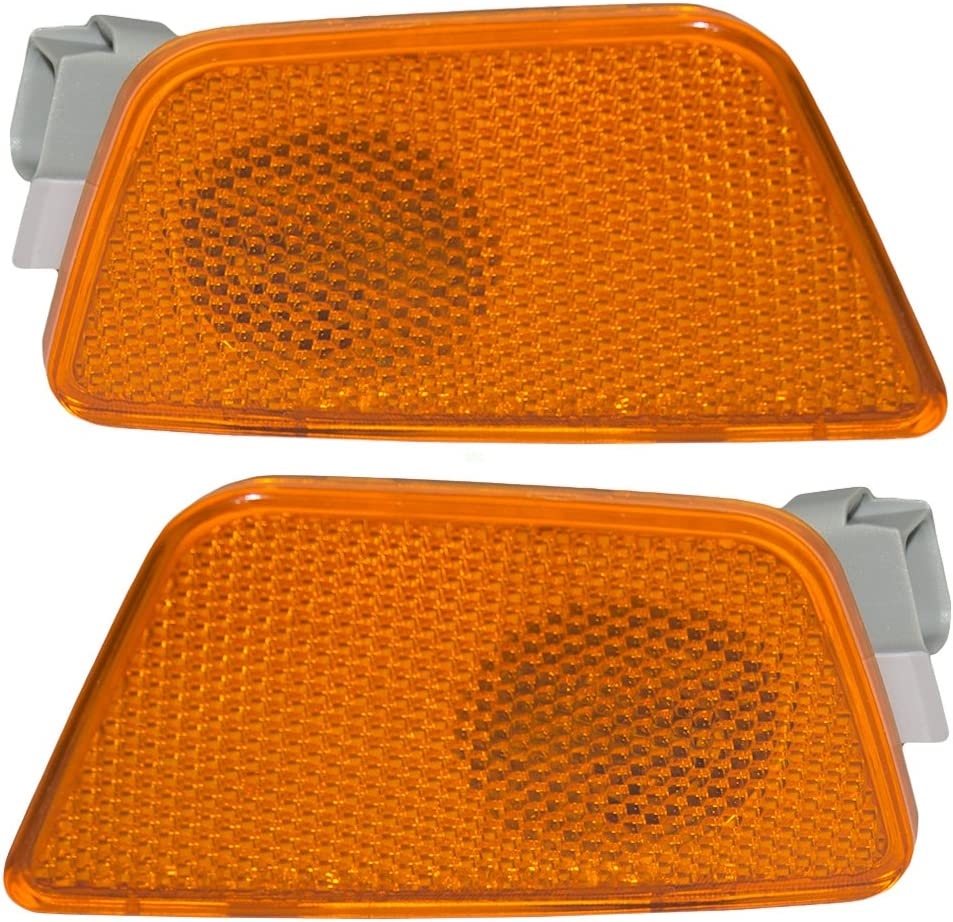 Aftermarket Replacement Driver and Passenger Set Front Park Signal Side Marker Lights Compatible with Cruze /& Cruze Limited 42334144 42334145