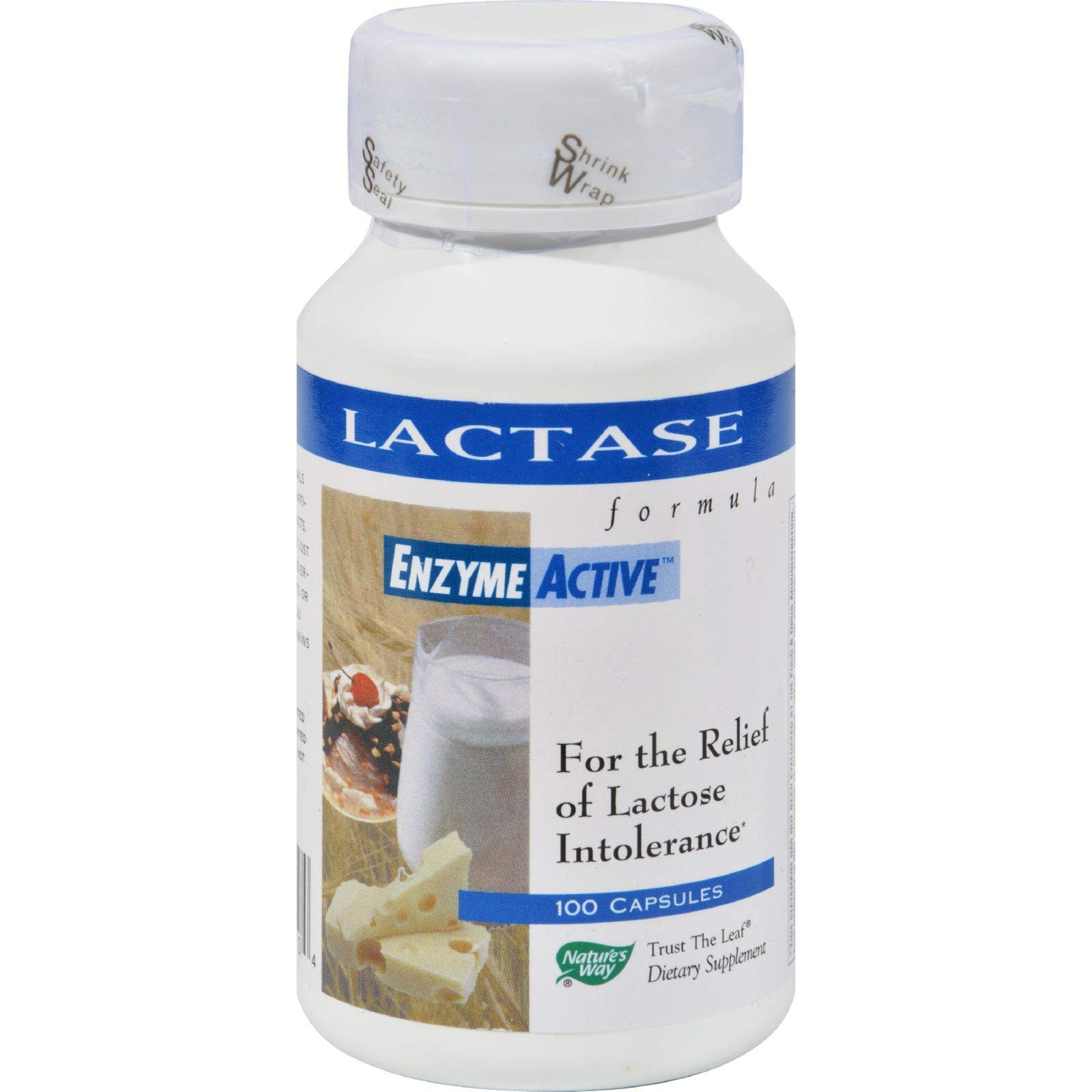Natures Way, Lactase Enzyme, 100 Capsules by Nature's Way