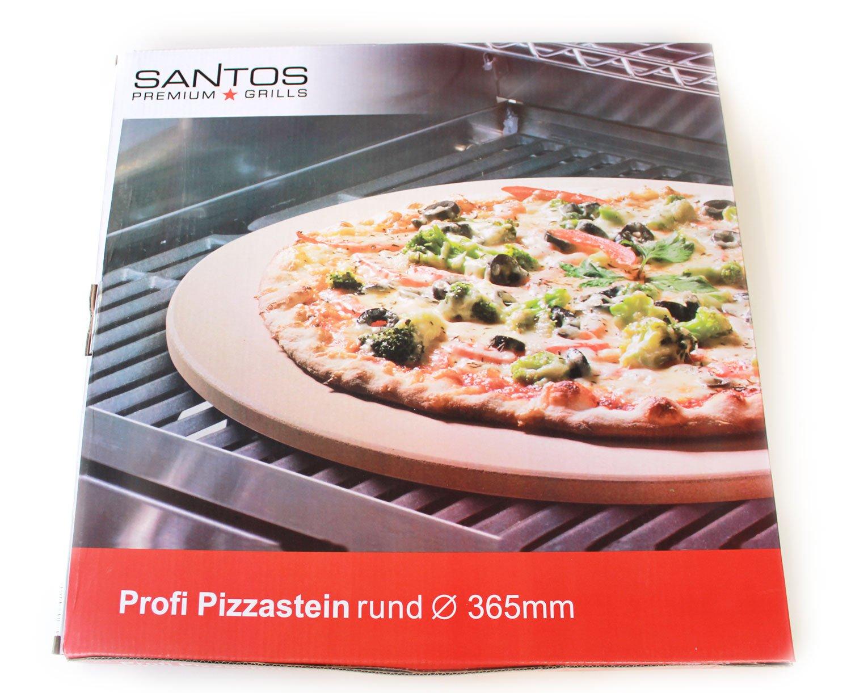 SANTOS Pierre /à pizza pour barbecue /à gaz /& Barbecue /à Charbon Convient 36,5/cm