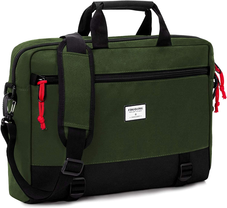 KINGSLONG 15 15.6 Inch Convertible Backpack Laptop Shoulder Bag Messenger Bag Briefcase Handbag for Men Women